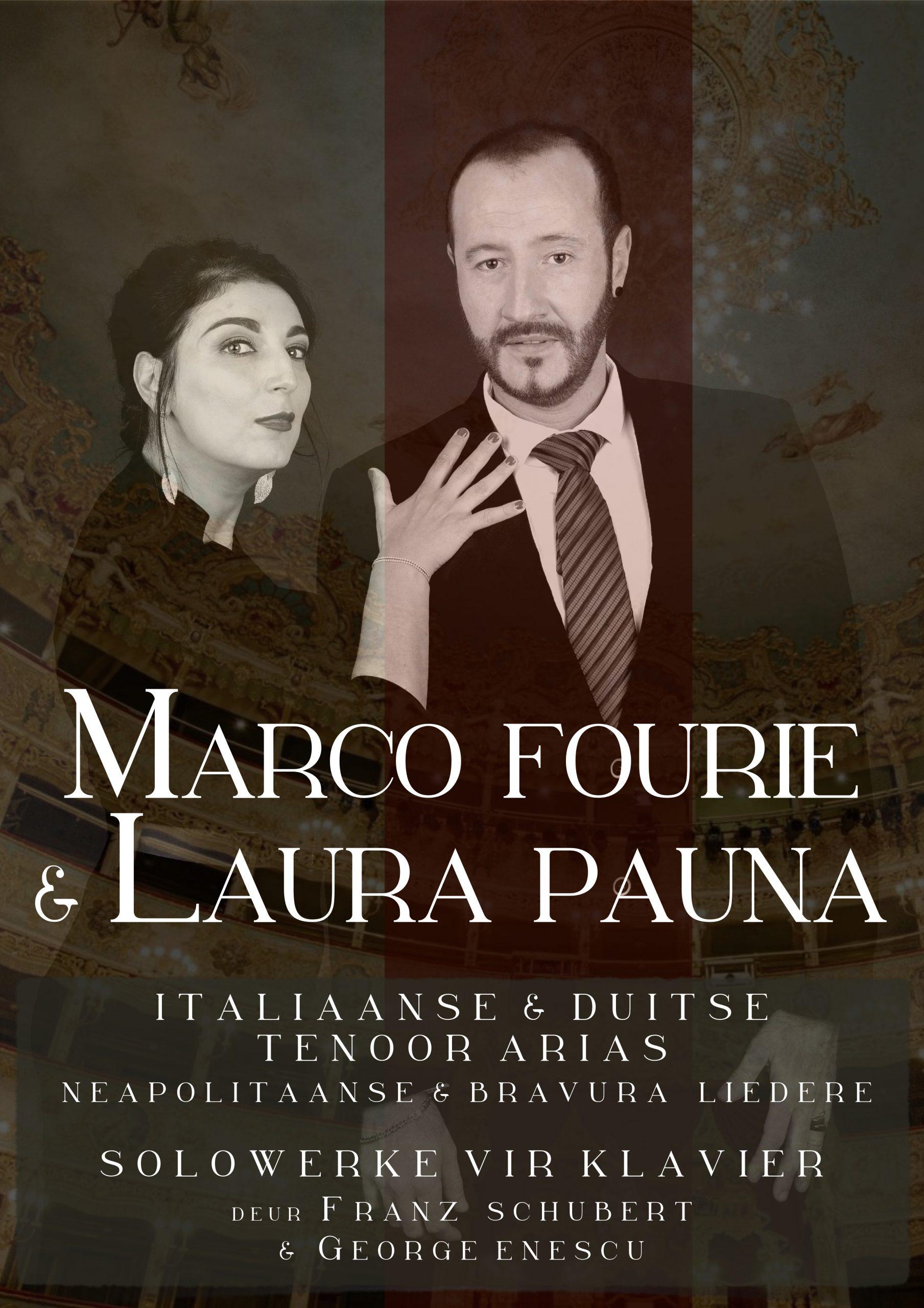 Klassieke uitvoering met Marco Fourie & Laura Pauna – Sang en Klavier